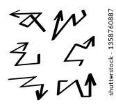 hand drawn arrows vector set   Shutterstock .eps vector #1358760887