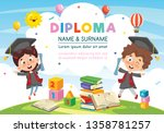 Vector Illustration Of Diploma...