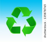 recycle symbol | Shutterstock .eps vector #135878765