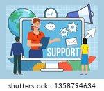 call center  online support ...   Shutterstock .eps vector #1358794634