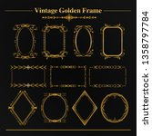 decorative luxury gold frame... | Shutterstock .eps vector #1358797784