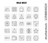 wild west line icon for web ...