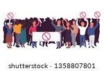 vector crowd of people...   Shutterstock .eps vector #1358807801
