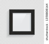 square black wooden picture or... | Shutterstock .eps vector #1358808164