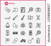 health  line icons set for... | Shutterstock .eps vector #1358808827