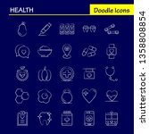health hand drawn icon for web  ... | Shutterstock .eps vector #1358808854
