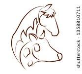 cute animals draw   Shutterstock .eps vector #1358810711