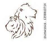 cute animals draw | Shutterstock .eps vector #1358810714