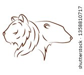 cute animals draw | Shutterstock .eps vector #1358810717