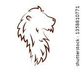 cute lion draw | Shutterstock .eps vector #1358810771