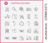 shipping delivery hand drawn... | Shutterstock .eps vector #1358815271