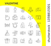 valentine hand drawn icon pack... | Shutterstock .eps vector #1358815301