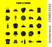 food and drink solid glyph icon ...