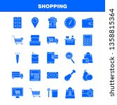 shopping solid glyph icon for... | Shutterstock .eps vector #1358815364