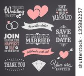 chalkboard style wedding design ... | Shutterstock .eps vector #135882257
