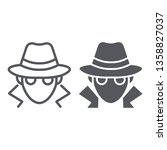 fraud line and glyph icon ... | Shutterstock .eps vector #1358827037