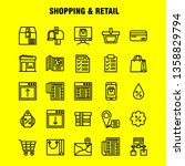 shopping line icon pack for... | Shutterstock .eps vector #1358829794