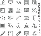 thin line vector icon set  ... | Shutterstock .eps vector #1358840081