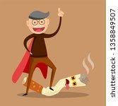 stop smoking concept   the man... | Shutterstock .eps vector #1358849507