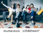 team of young entrepreneurs... | Shutterstock . vector #1358856647