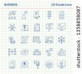 business  25 doodle icons. hand ... | Shutterstock .eps vector #1358858087