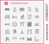 interior design  hand drawn... | Shutterstock .eps vector #1358858207
