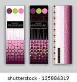 vector banners. set of three.... | Shutterstock .eps vector #135886319