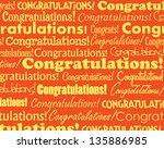congratulations   grouped... | Shutterstock . vector #135886985