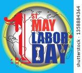 happy labour day happy labor...   Shutterstock .eps vector #1358884364