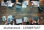 business people in a stock... | Shutterstock . vector #1358897657