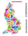 mosaic liechtenstein map of... | Shutterstock .eps vector #1358900654