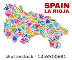 mosaic la rioja of spain map of ... | Shutterstock .eps vector #1358900681