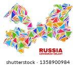 mosaic leningrad region map of...   Shutterstock .eps vector #1358900984