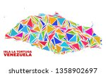mosaic isla la tortuga map of... | Shutterstock .eps vector #1358902697