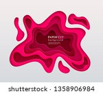 3d papercut style background.... | Shutterstock .eps vector #1358906984