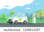 electric car charging its... | Shutterstock .eps vector #1358912207