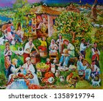 Painting A Rural Holiday In Th...