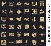 mark cartography icons set....   Shutterstock .eps vector #1358922407