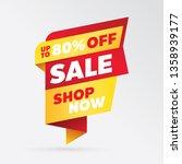vector sale banner template... | Shutterstock .eps vector #1358939177