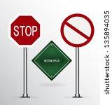 traffic sign. vector... | Shutterstock .eps vector #135894035