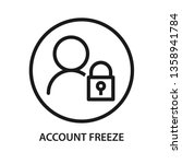 account freeze  user with lock... | Shutterstock .eps vector #1358941784