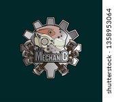 mechanic logo icon with robot... | Shutterstock .eps vector #1358953064