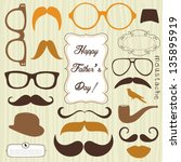 happy father's day background ... | Shutterstock .eps vector #135895919
