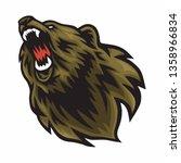 angry bear logo vector roaring... | Shutterstock .eps vector #1358966834