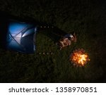 aerial  flying above a young... | Shutterstock . vector #1358970851