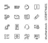 simple icon set call center and ... | Shutterstock . vector #1358974601
