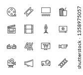 simple set symbols cinema ...   Shutterstock . vector #1358975057