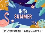 hello summer  vector banner... | Shutterstock .eps vector #1359022967