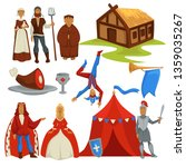 peasants and royalty medieval... | Shutterstock .eps vector #1359035267
