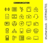 communication line icons set...